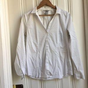 H&M Polka Dot Button-Down Dress Shirt